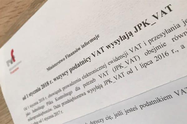 jpk_VAT pismo